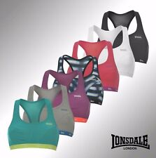Womens Ladies Sports Crop Top Bra Exercise Gym Running Lonsdale size 32 34 36