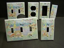 JUNGLE ANIMALS #1 LIGHT SWITCH OR OUTLET COVERS MULTI SIZES