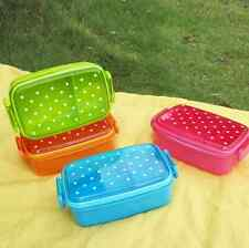 Outdoor Polka Dot Single Sub-grid Rice Boxes/New Transparent Bento Lunch Box