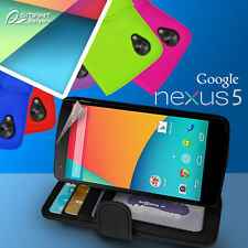 Photo ID Wallet Flip Leather Case Cover for LG Google Nexus 5 D821 + Screen GD