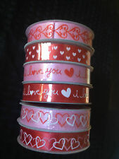 "5/8""x 3YD Choice Valentines Day Satin Ribbon:Hearts, Scrapbooking, Card Making,"