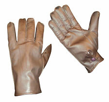 LEATHER GLOVES BROWN BRITISH ARMY MENS   - LIMITED SIZES - GRADE 1 CONDITION