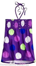 NWT JUSTICE Girls Dot Smocked Bandeau Cotton Top Tee Purple Size 10 NEW