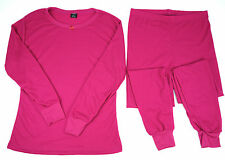 Women's 100% Cotton Light Wt. Waffle Knit Long John Thermal Underwear Set Sm-2XL