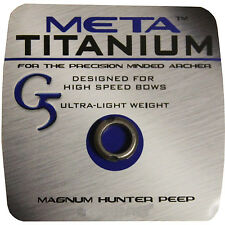 "G5 Meta Titanium Peep Sight Large Magnum Hunter 3/16"" 1/4"" 5/16"" Ultra Light"
