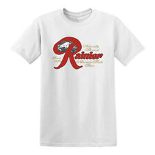 vintage style Rainier Beer t-shirt classic can bottle seattle brewery XS-3XL