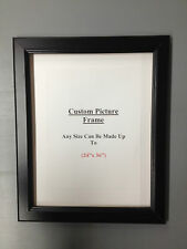 """CUSTOM 1 3/8"""" Black Ready made Picture Frame"""
