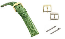 Genuine Crocodile Skin Green Ladies Fast Change Watch Band, Many Sizes Available