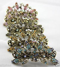 Luxury Antique Rhinestone Peacock hair clip, clamp, grip, buckle 10 Colours