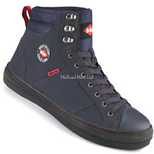 """""""Lee Cooper"""" Steel Toe Cap Navy Blue Baseball Style Safety Boots. Trainers Shoes"""