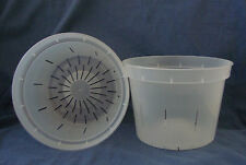 """6"""" INCH ROUND CLEAR PLASTIC ORCHID POT 5 / 25 / 50"""