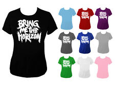 Womens Bring Me The Horizon BMTH Band Logo Top T-shirt NEW UK 6-18