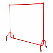 6ft GARMENT RAIL Bespoke Custom Coated Clothes Rail in RED Made in Britain 2740