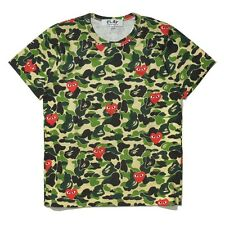 Fashion Comme des Garcons PLAY × APE Camouflage women/Men T Shirt SZ S-XL