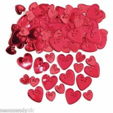 Red Foil Love Heart Table Confetti Valentines Day Scatter Party Decoration