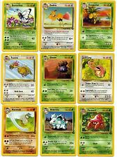 English - Jungle Set - UnCommon - Original Pokemon Cards - Near Mint
