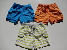 OLD NAVY BABY BOYS JERSEY  SHORTS ORANGE/GREEN/WHITE/BLUE SIZES 0-3 AND 3-6 NWT