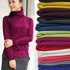Lady Women Candy Color Turtleneck Knitwear Pullover Jumper Top Thick Sweater NEW