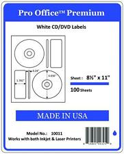 PO11  CD/DVD Labels Matte Memorex Core Compatible Full Face Laser InkJet