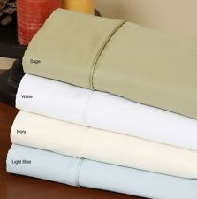 """1000TC Deep Pocket 16"""" Inch Fitted Sheet 1-Piece 100% Cotton Choose Extra Sizes"""