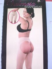 NWT VALENCIA BUTT LIFTER SHAPER CHAP LONG LEG SHORT PANTY W/OPEN HIP #8067