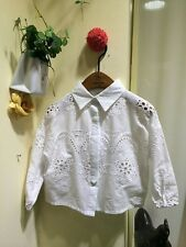 1937 Boutique Vintage Eyelet Lace White Shirt Loose Fit Very Ladylike So Pretty