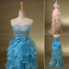Stone Ruffle Skirt Hot Homecoming Dress Prom Party Cocktail Gowns Stock US4+6++