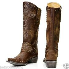 L1295-3 OLD GRINGO KRUSTS WESTERN BRASS RIVETED BOOTS