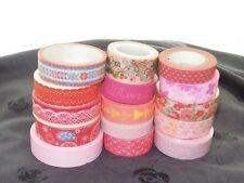 Red Color Flower Lace happy Pattern WASHI tape sticker Decorative Paper Tape