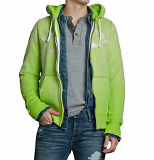 Abercrombie & Fitch Men Cobble Hill Hoodie Moose Full-Zip Jacket -$0 Shipping