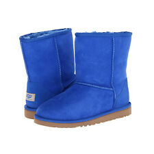 Kids Boots Ugg Classic Short Kids Youth Boots Sheepskin Authentic Electric Blue
