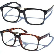 RETRO CLASSIC CLEAR LENS GLASSES Vintage Smart Hipster Geek Nerd Aviator Style