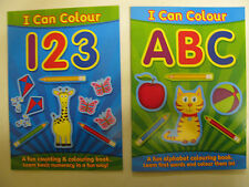 Children's Alphabet & Counting Activity Colouring Books 123 ABC Learn Aid Number