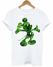 MICKEY MOUSE DOPE WEED T SHIRT RIHANNA DISOBEY HIPSTER T-SHIRT CANNABIS TOP NEW