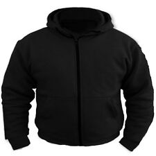 Motorcycle Removable Armoured Full Kevlar Ultimate Protection Black Hoodie Hoody