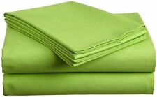 Extra Thread Count Sage Solid Fitted Sheet 1PCs 100% Cotton--Fit Deep Pocket's
