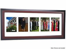 Creative Frames 5 Opening Mahogany Picture Frame w/Glass holds 4x6 in 10x26 mat