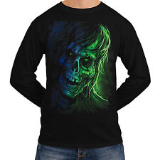 Grim Ghost Reaper Pirate Crow New Mens Women Long Sleeve T-Shirt Ship *sh222