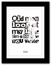 ❤  NEIL YOUNG Old Man ❤ song lyrics typography poster art print - A1 A2 A3 or A4