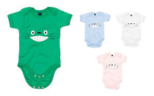 Totoro Smile Face, Printed Baby Grow