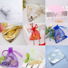 20/100PCS 4*5'' Large Organza Jewelry Wedding Party Favor Gift Candy Bag Pouch