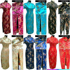 black red blue New Chinese Style embroider women's Dress/Cheong-sam sz6-16