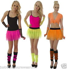 NEON TUTU SKIRT SET  80's  FANCY DRESS GIRLS