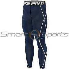 Mens Compression Navy Pants Leggings Full Length Pants AFL Rugby Skins Take 5