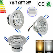 Dimmable 9W 12W 15W LED Downlight kit Recessed Ceiling Light Lamp Bulb+Driver EG