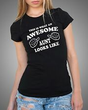 AUNT This is What An Awesome Aunt Looks Like T-Shirt Gift For Aunt gift tee