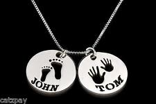 Sterling Silver Two Circle Personalised Necklace with Cut Out Names
