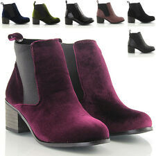 WOMENS LADIES VINTAGE LOW HEEL WINTER SHORT LADIES CHELSEA ANKLE BOOTS SIZE 3-8