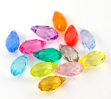 Wholesale HOT! Jewelry Mixed Faceted Teardrop Acrylic Crystal Pendants