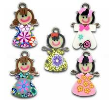 Wholesale DIY Jewelry Mixed Multicolor Polymer Clay Girl Charms Pendants